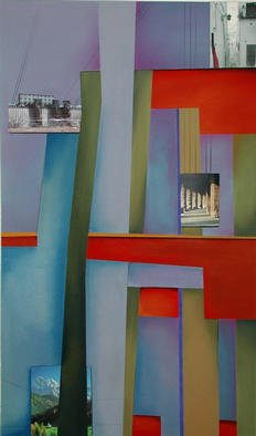 Christian Culver; Divergent Paths 4, 2003, Original Mixed Media, 36 x 42 inches. Artwork description: 241 Pastel with architectural photographs. ...
