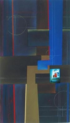Christian Culver; Divergent Paths 7, 2003, Original Pastel, 10 x 20 inches. Artwork description: 241 Pastel media, incorporates architectural photography. On paper. ...