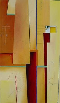 Christian Culver; Divergent Paths 8, 2003, Original Pastel, 10 x 20 inches. Artwork description: 241 Pastel media, incorporates architectural photography. On paper. ...