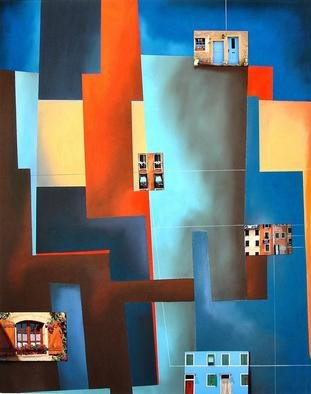 Christian Culver; Windows 3, 2011, Original Pastel, 21 x 27 inches. Artwork description: 241 Architectural images on paper. Pastel is the major medium....