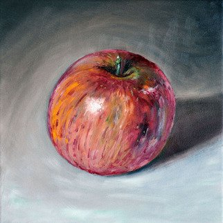 Chandle Lee; Fuji Apple, 2009, Original Painting Oil, 12 x 12 inches.
