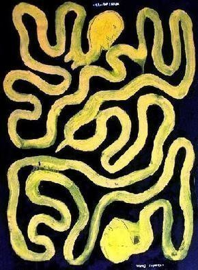 Charles Cham, 2496 the twins, 2005, Original Painting Oil, size_width{1656_SERPENT_LOVERS-1119693236.jpg} X 81 cm