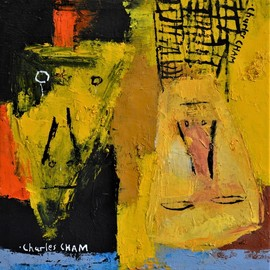 Charles Cham, , , Original Painting Oil, size_width{2555_yellow_heads-1556448341.jpg} X 30.5 cm