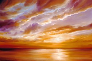 James Hill; Morning Grace , 2007, Original Painting Oil, 36 x 24 inches. Artwork description: 241  Original Oil Painting, Sunrise, Sunset, Ocean, Sky, Shoreline, Shore, Sea, Water, River, Clouds, Cloudscapes, morning, evening, red, yellow, orange, blue, green, light, power, God, Love, Energy ...