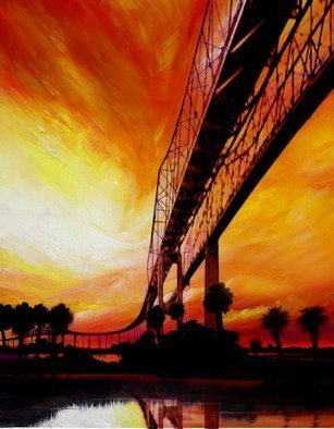James Hill; The Last Bridge, 2004, Original Painting Oil, 14 x 1 inches.