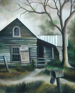James Hill; The Ole House, 2006, Original Painting Oil, 16 x 20 inches. Artwork description: 241  The painting is of an old house in the country of South Carolina. ...