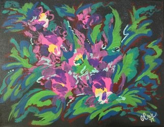 Charlotte  Reber; abstract orchids, 2017, Original Painting Acrylic, 14 x 11 inches. Artwork description: 241 Abstract orchids...