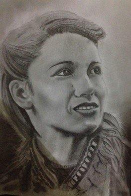 Chathura Alahapperuma; Adaline, 2017, Original Drawing Pencil, 8 x 12 inches. Artwork description: 241 its a character from film called age of adaline...