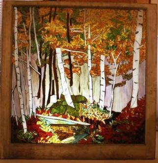 Chris Heisinger; Beginning Of Fall, 2007, Original Mosaic, 34 x 35 inches. Artwork description: 241  Stained Glass Mosaic ...