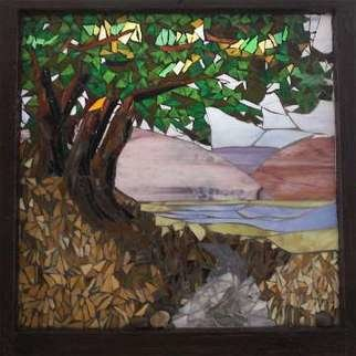 Chris Heisinger; Enchanted Trail, 2008, Original Glass Stained, 28 x 28 inches.