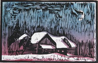 Chris Heisinger; Untitled, 2008, Original Printmaking Woodcut, 9 x 6 inches. Artwork description: 241  Hand printed - Hand ColoredEach print is unique ...