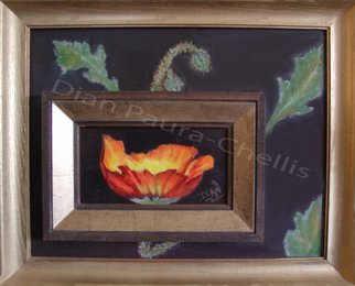 Dian Paura Chellis; Rebirth, 2012, Original Painting Oil, 12 x 16 inches. Artwork description: 241  flowers, poppy, frame within frame      ...