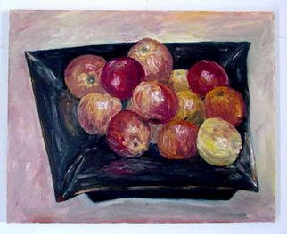 Joshua Cheng; Apples, 2001, Original Painting Oil, 20 x 16 inches.