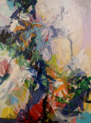 Cheryl Johnson; Joan Mitchell Inspired, 2018, Original Mixed Media, 36 x 48 inches. Artwork description: 241 Joan Mitchell, Abstract, Expressionism, Gestural, Painterly, Brush Work, Cheryl Johnson, cherinow...