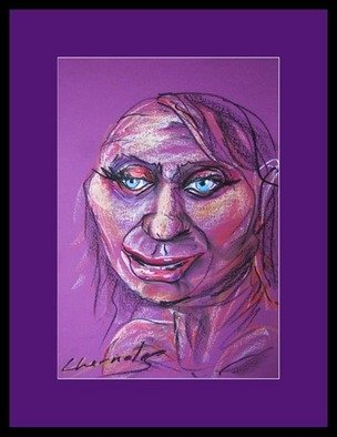 George Chernoles; Viola, 2008, Original Pastel Oil, 35 x 49 cm. Artwork description: 241  original ...
