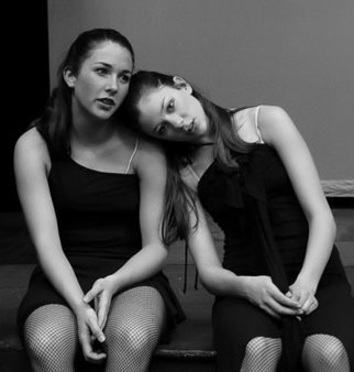 Cheryl Dodds; Intermission, 2004, Original Photography Black and White, 13 x 13 inches. Artwork description: 241  Dancers at intermission ...