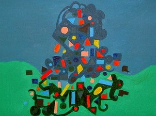 Chizz Chizz; Abstracted Landfill , 2006, Original Painting Acrylic, 40 x 30 cm. Artwork description: 241  an abstracted landfill  ...
