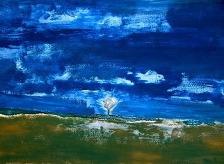 Chizz Chizz; Silent Dreams , 2006, Original Painting Acrylic, 60 x 40 cm. Artwork description: 241  an abstract blue and green peacefull landscape.  ...