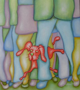 Jan Chlpka; Life On A Human Scale, 2010, Original Painting Oil, 35 x 40 cm.