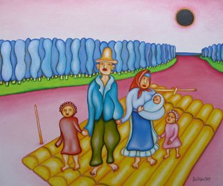 Jan Chlpka; The Fate Of A Family, 2009, Original Painting Oil, 60 x 50 cm.
