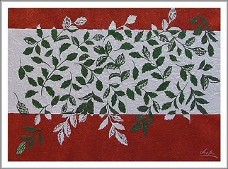 Choko Nakazono; Leaves Dancing, 2014, Original Mixed Media, 31.5 x 44 cm. Artwork description: 241     My paper craft is thecutting artwork. This cutting is Japanesetraditional patterns