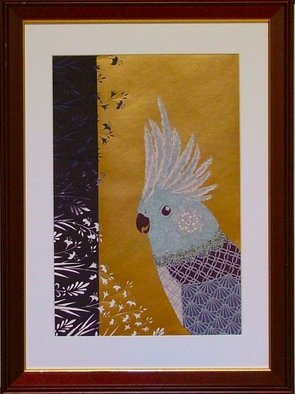 Choko Nakazono; Bird1, 2014, Original Mixed Media, 34 x 46 cm. Artwork description: 241   My paper craft is thecutting artwork. This cutting is Japanesetraditional patternsMONYOU.Old fashioned design may be born again.   ...