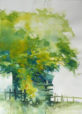 Kah Wah Chong; Under The Rambutan Tree, 2011, Original Watercolor, 15 x 22 inches.