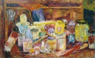christopher english; Jumble Of Tins And Jars, 2000, Original Painting Oil, 48 x 30 inches. Artwork description: 241 Oil colour on canvas...