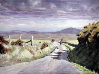 Chris Chalk; View To Frenni Fawr, 2008, Original Painting Oil, 16 x 12 inches. Artwork description: 241   Oil on canvas - This is another welsh landscape painting. I love the quiet roads up on the Preseli hills, and whilst up there the only sound to be heard was an occasional ewe bleating. A beautiful spot indeed. ...