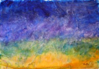 Chris Jehn; Santa Fe Sunset, 2011, Original Painting Other, 22 x 30 inches. Artwork description: 241  Abstract Mixed Media Landscape with a Sunset theme ...