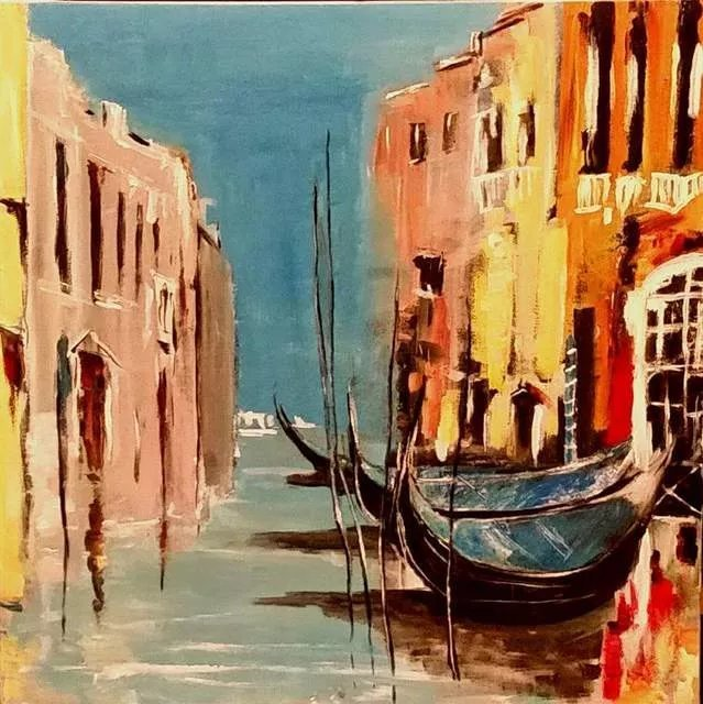 Christian Mihailescu; Venice By Day, 2018, Original Painting Acrylic, 20 x 24 inches. Artwork description: 241 ORIGINAL ACRYLIC PAINTING on CANVAS Size: 20x24 Date: 2018Mediumoriginal : acrylic varnish on gallery stretched cotton canvas staples are on back, not on sides. Painted sides - can be exposed without frame.- signature- front and back- title and date- backCOA will be included with my original signature....