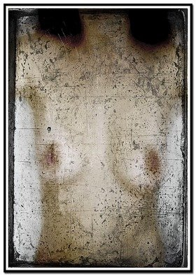 Christian Harkness; Tarnished Mirror 1, 2007, Original Photography Other, 4 x 5.7 inches. Artwork description: 241  Images representing a jaundice look at ones body through the veil of a tarnished mirror. ...