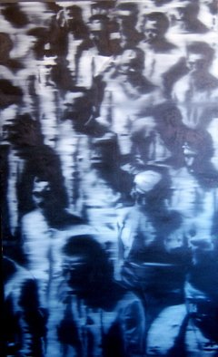 Christian Draeger; Roll Call, 2010, Original Painting Oil, 46 x 72 inches.