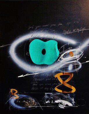 Christo Kasabov; APPLE OF MY EYE, 2012, Original Mixed Media, 72 x 56 inches. Artwork description: 241 acrylicand oil stick on canvas ...