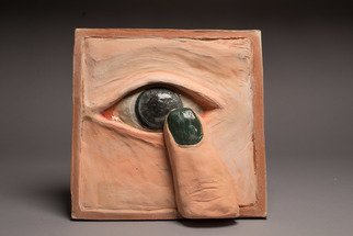Ciara Athy; Bright Eyed, 2017, Original Ceramics Handbuilt, 12 x 12 inches.
