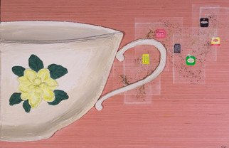 Ciara Athy; Teacup, 2017, Original Mixed Media, 36 x 18 inches.