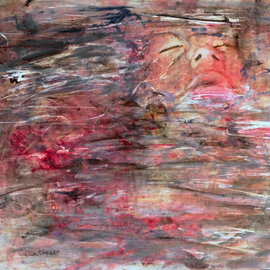 Caren Keyser, , , Original Painting Acrylic, size_width{Blood_in_the_Water-1534956926.jpg} X 11 inches