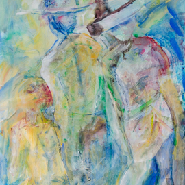 Caren Keyser, , , Original Painting Acrylic, size_width{Three_Figures-1536699217.jpg} X 14 inches