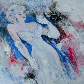Caren Keyser, , , Original Painting Acrylic, size_width{White_Gloves-1534009569.jpg} X 16 inches