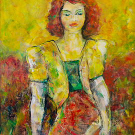 Caren Keyser, , , Original Painting Acrylic, size_width{Yellow_Jacket-1534789525.jpg} X 24 inches