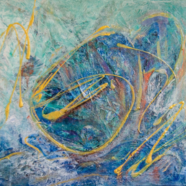 Caren Keyser, , , Original Painting Acrylic, size_width{blue_crouch-1555614580.jpg} X 16 inches