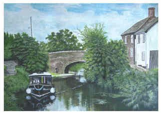 Chris Clarke; Creech St Michael, Taunto..., 2011, Original Painting Acrylic, 40 x 30 cm. Artwork description: 241  Somerset/ boating/ canals/ art/ arts/ canvas/ english/ watercolour/ oils/ artists/ artists/ uk/ water/ locks/ prints/ shops/ crafts/ boats/ canal boats/ greetings cards/ ...