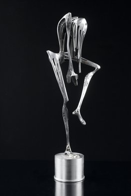 Claudio Bottero; Mistico, 2010, Original Sculpture Steel, 7 x 50 cm. Artwork description: 241 An abstract sculpture piece inspired by modern dance. ...