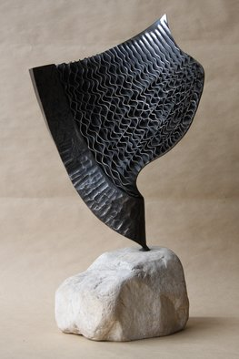 Claudio Bottero; Nebulosa, 2002, Original Sculpture Steel, 30 x 60 cm. Artwork description: 241 A unique piece, with a technique that I have a few times in creating a rippled effect. It s a stunning piece that fit s well in most settings. ...