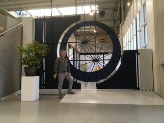 Claudio Bottero; Stargate, 2018, Original Sculpture Steel, 520 x 480 cm. Artwork description: 241 This is a gate that I have wanted to make for many years. It s inspired by the night sky, it has many dimensions and interesting features. At the moment it opens manually, but could be operated remotely. Could be adapted to fit a larger entrance. ...