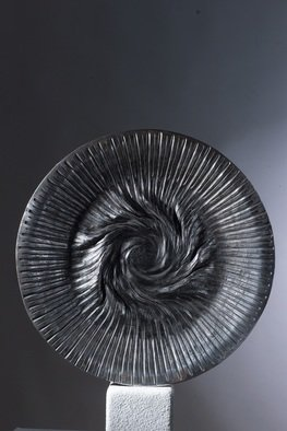 Claudio Bottero; Tornado, 2000, Original Sculpture Steel, 60 x 60 cm. Artwork description: 241 Inspired by the immense power of tornados. It s a very unique piece forged from solid steel. ...