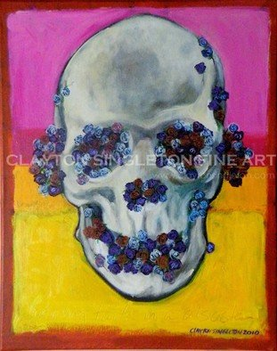Clayton Jerome Singleton; Having Faith In A Disaster, 2010, Original Painting Acrylic, 16 x 20 inches. Artwork description: 241    Acrylic on Canvas, skull, flowers, peonies, black and white, life, forgiveness, faith, rothko, father son, play, still life, art, painting, drawing, contemporary, paintings, drawings, portrait, painters, buy art, original, canvas paintings, modern art, ballerina, dance, girl, cute, blue, square, small, ready to hang, art works, famous art, ...