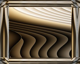 Cheryl Hrudka; 7849 The Landscape, 2019, Original Digital Art, 30 x 24 inches. Artwork description: 241 contemporary, abstract, minimal, landscape, browns, digital art, print on metal...