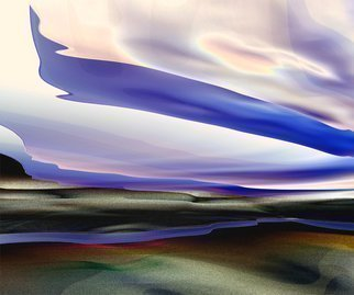 Cheryl Hrudka, 'In The Sky', 2014, original Digital Print, 30 x 24  x 1 inches. Artwork description: 1911 original digital art, abstract, abstraction, clouds, sky, water, river, digital art, computer art, landscapes, contemporary art, contemporary, realism...
