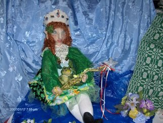 Deborah Robinson; Celtic Faery Princess Erin, 2006, Original Sculpture Other, 12 x 20 inches. Artwork description: 241   Erin is totally handcrafted and I feel she represents celtic fantasy ...
